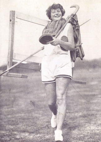 Martha Jacob (1911-1976), German champion in javelin throw 1929, demonstrates her versatility.
