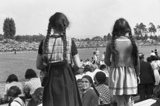 Herbert Sonnenfeld, spectator at the third school sports festival of Jewish schools in Berlin, Berlin 25.08.1937.