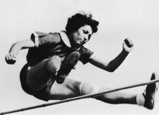 "Four weeks prior to the 1936 Olympic games Gretel Bergmann set the German high jump record. Due, however, to her so-called ""erratic performance"" she was not allowed to compete in the Berlin games."