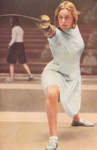 Defending champion Helene Mayer, to the surprise of many, placed fifth at the 1932 Summer Olympic Games in Los Angeles and won no medal; thus her eagerness to compete in the Berlin games.
