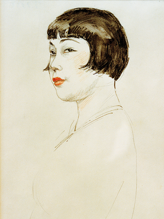 In the 1920s Nelly Neppach was also a celebrated figure among Berlin society. Famous art professor Emil Orlik created this drawing of her.