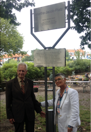 In 2014, the district of Charlottenburg-Wilmersdorf dedicated an unnamed square the Martha-Jacob-Platz. Klaus Henk (honorary president of the SCC) and Hazel Shore (Martha Jacob's daughter) were in attendance of the dedication on August 7th.